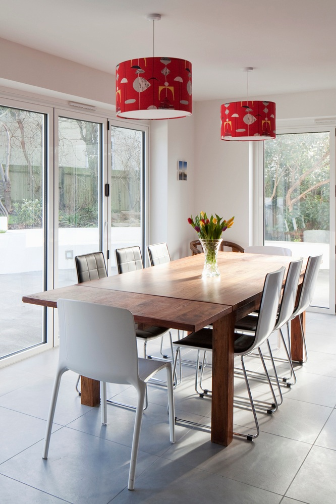 dining room with lots of light