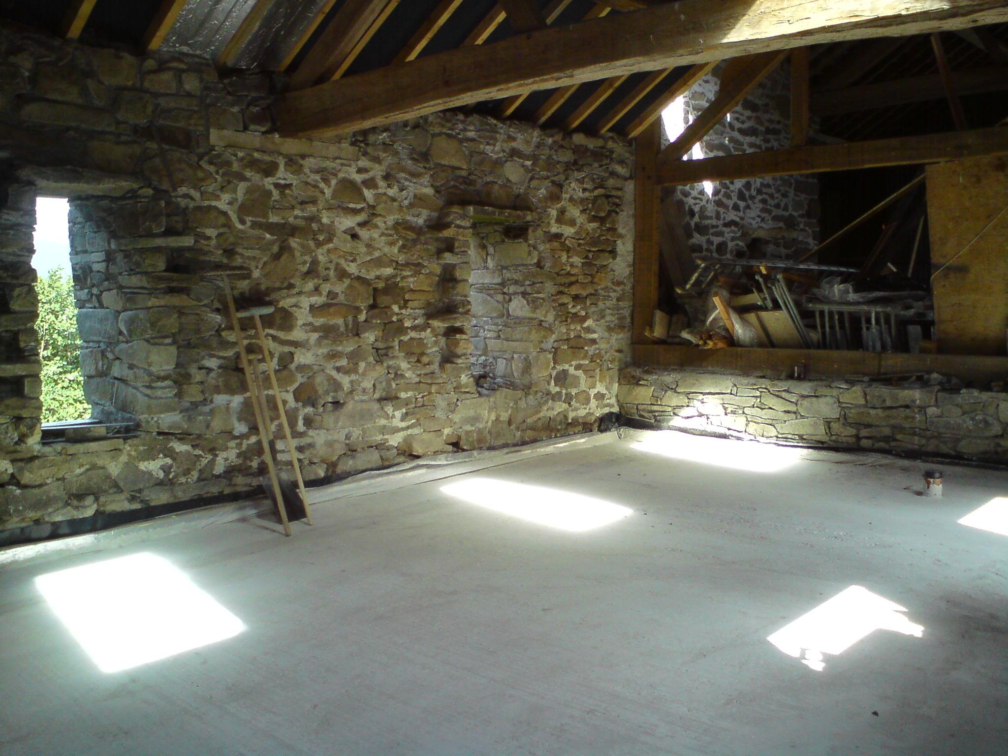 restoring a 120 year old stone barn interior