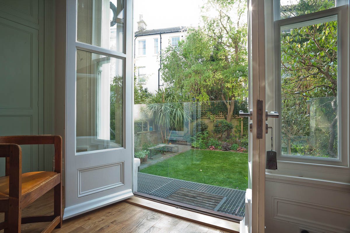 new french doors open period property up to garden