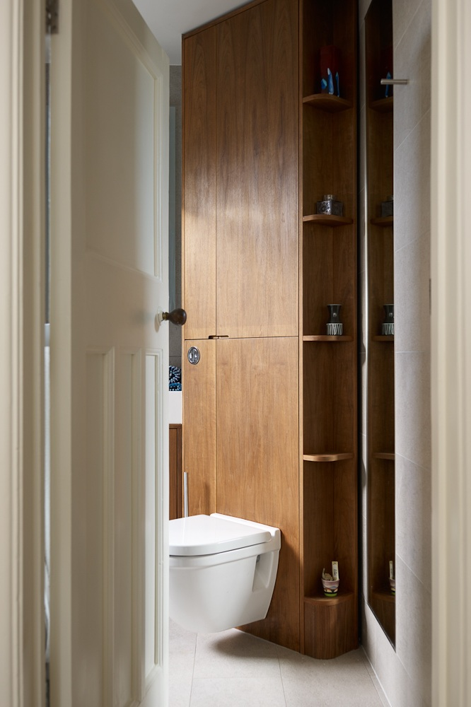clever bespoke joinery for bathroom storage solutions