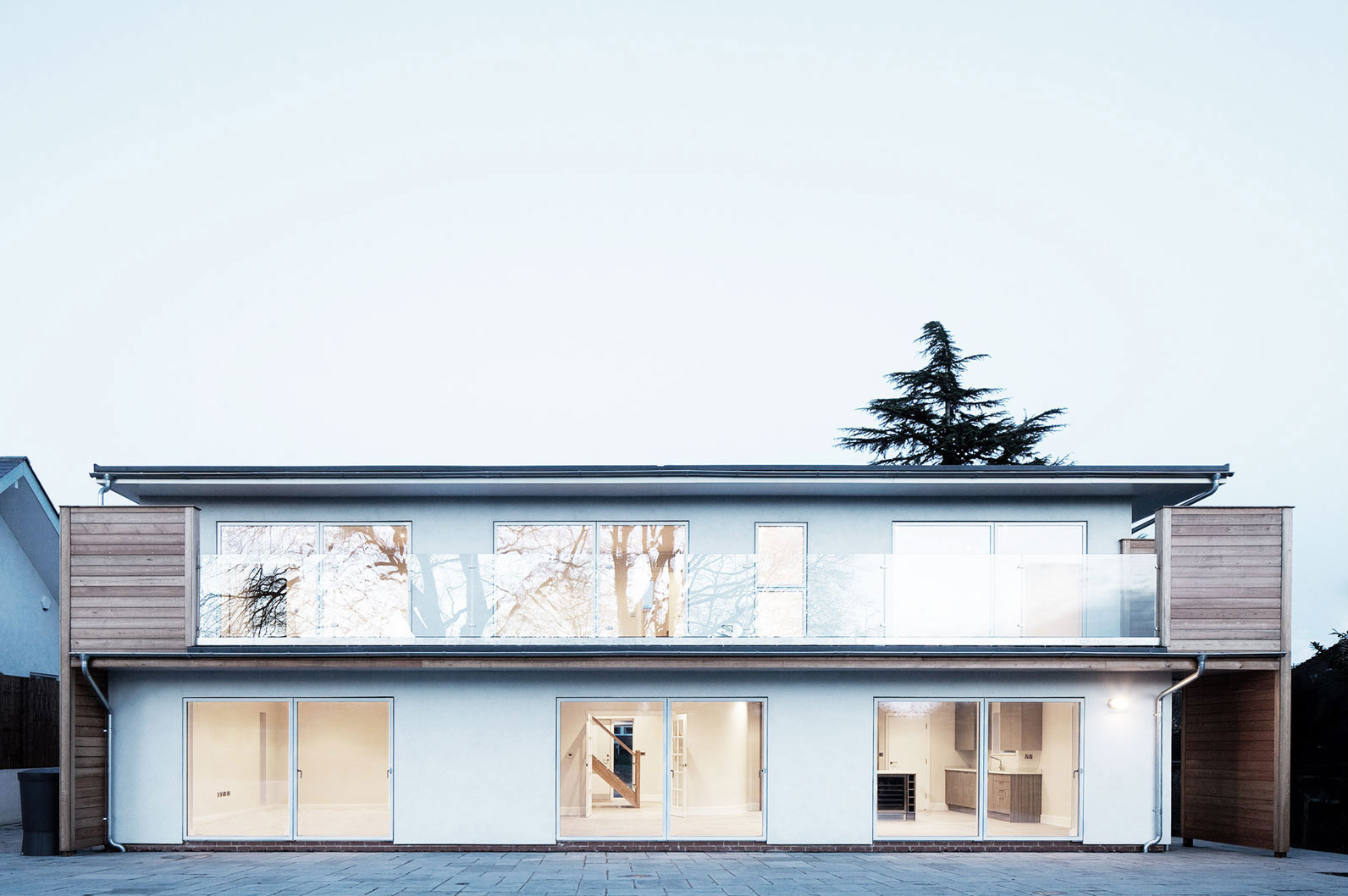 exterior view of contemporary family home