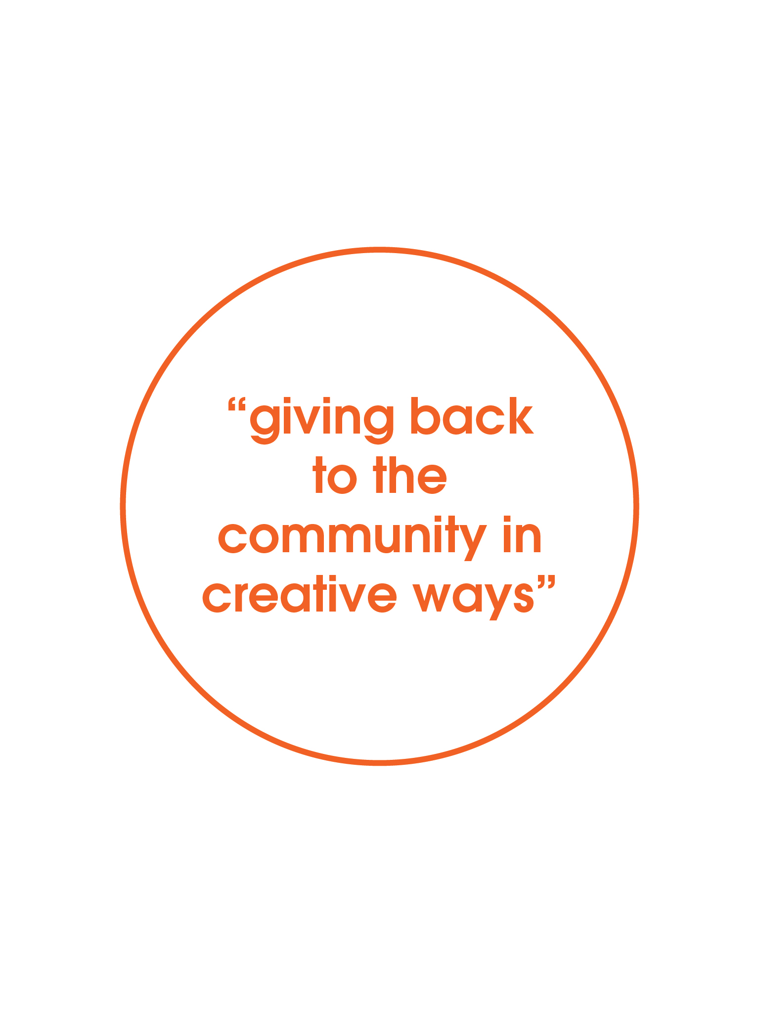 giving back to the community in creative ways quote