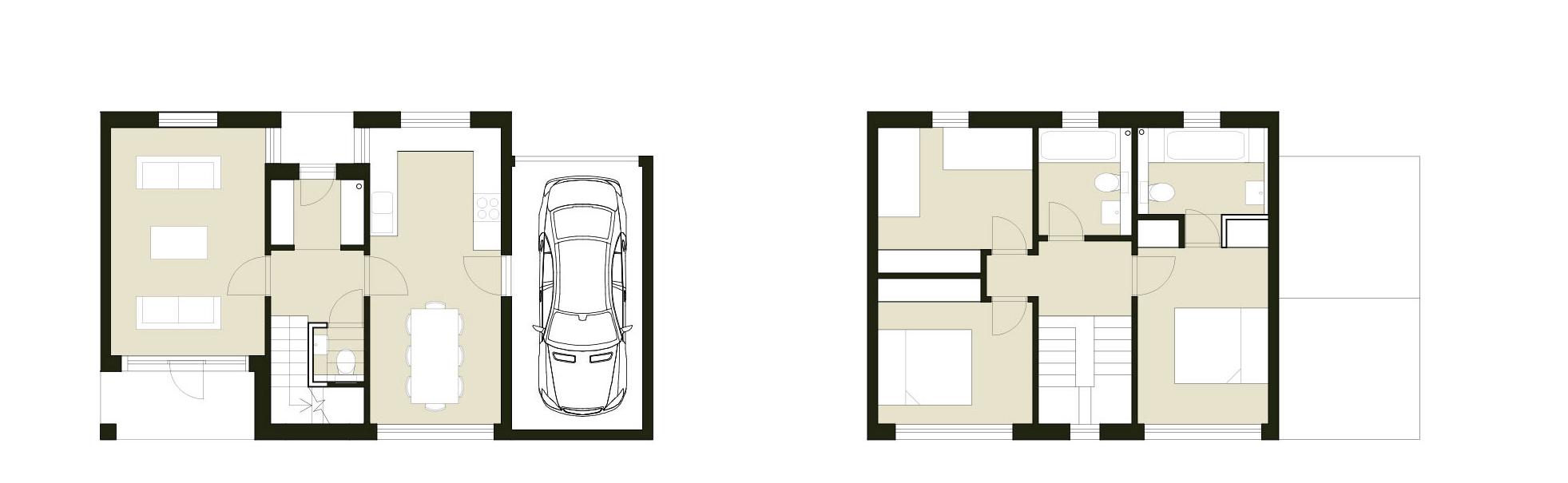 three-bedroom home floor plans