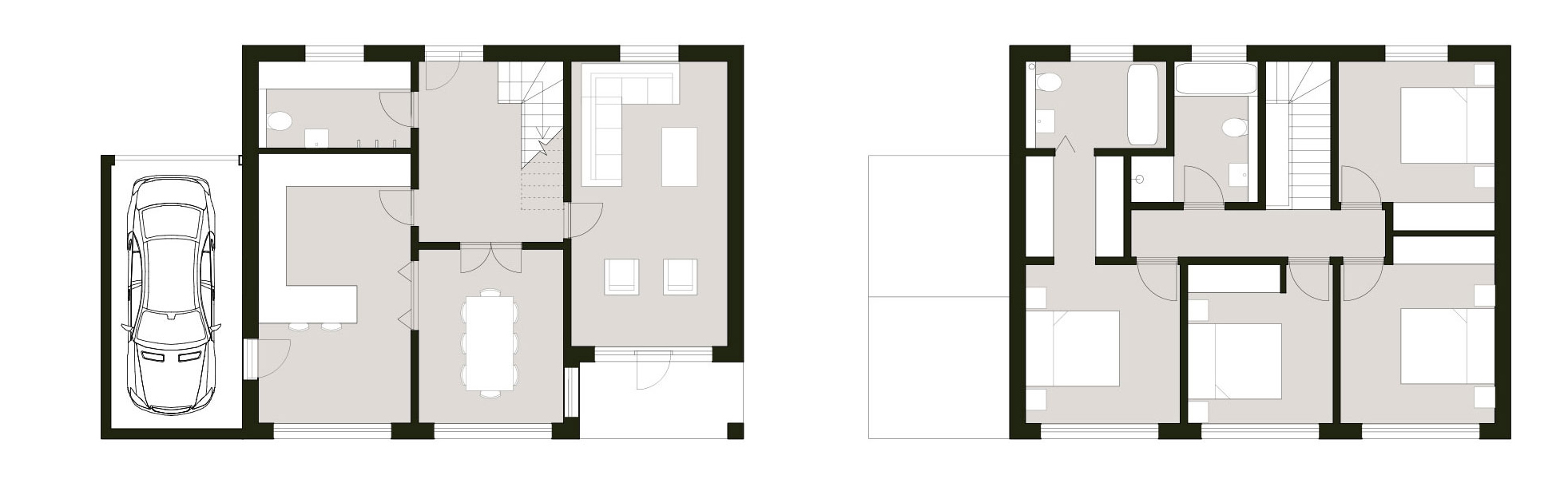 four-bedroom home floor plans