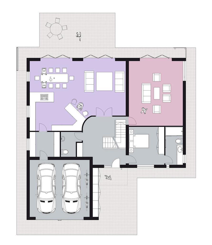 home one: ground floor plan