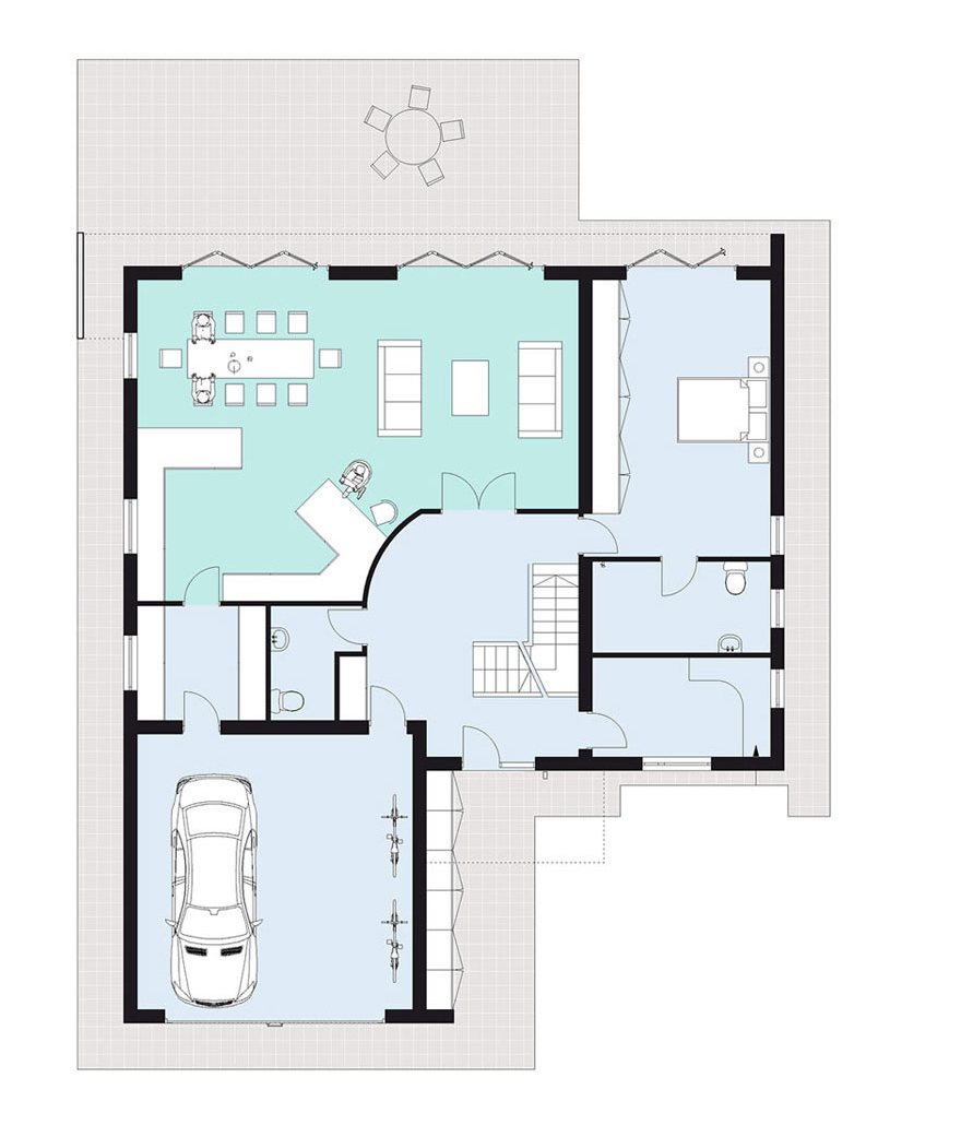 home two: ground floor plan