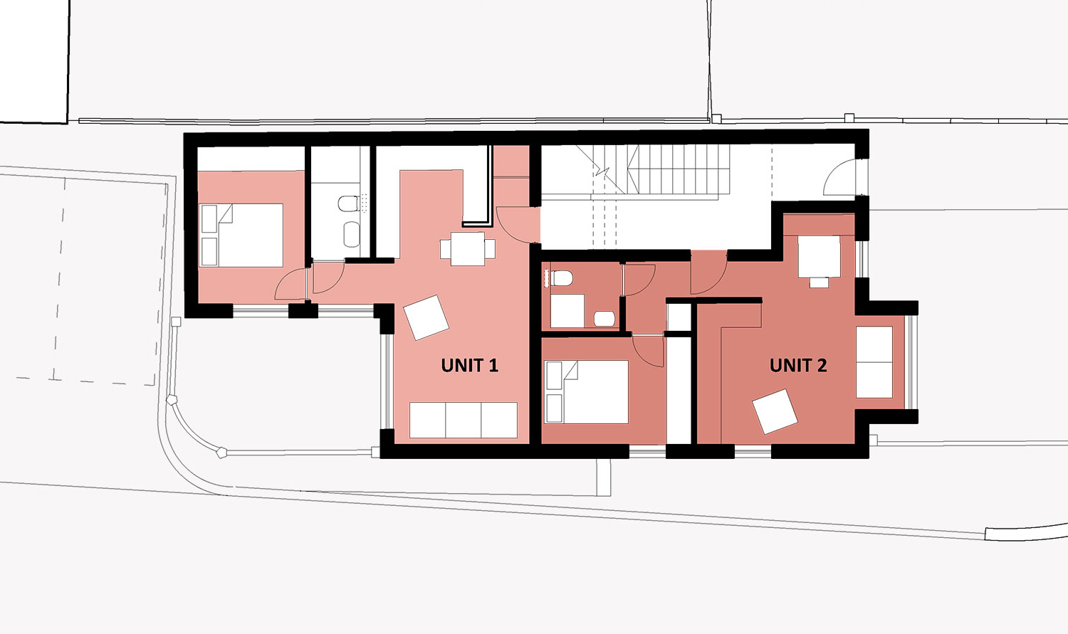 apartment block ground floor plan