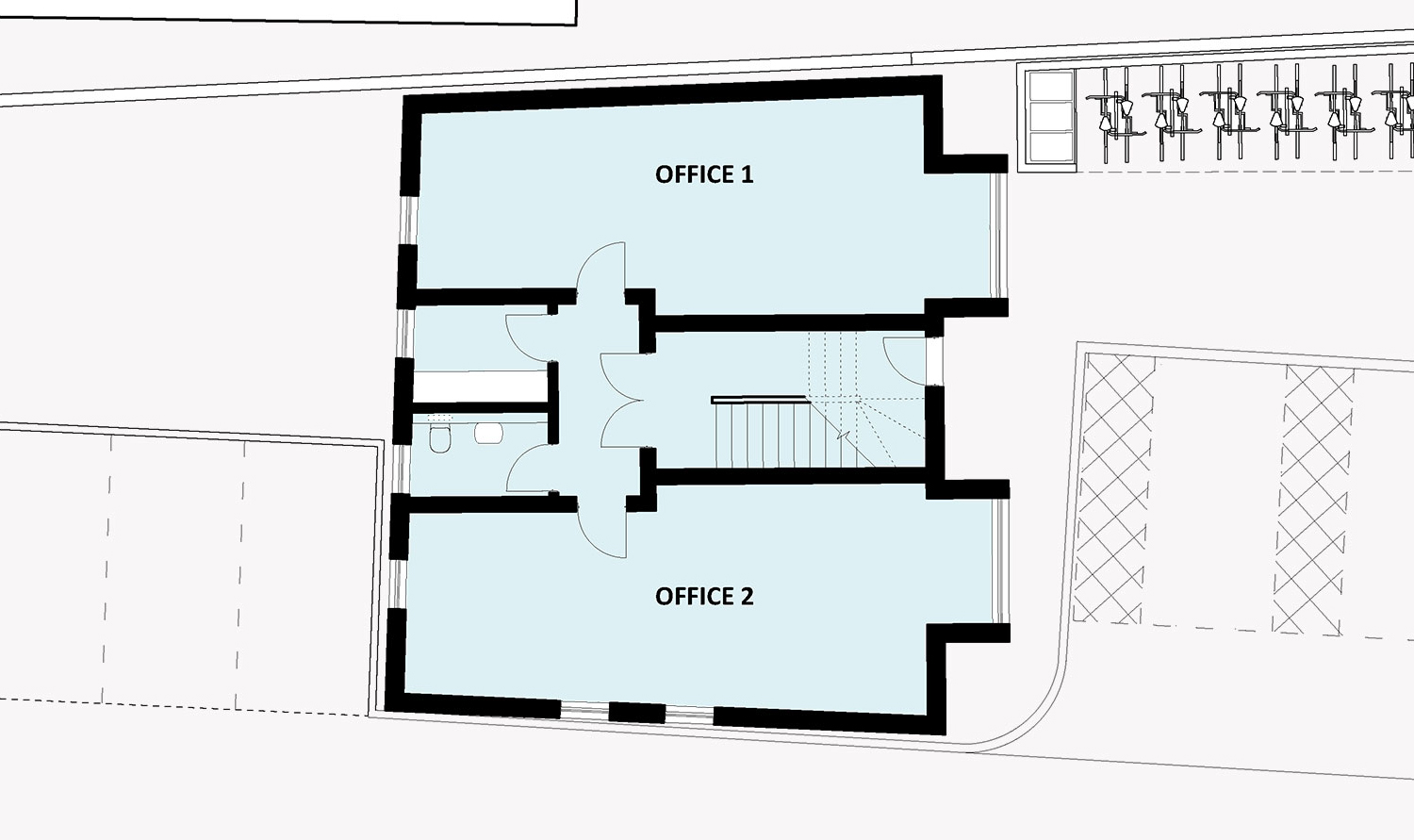 office block ground floor plan