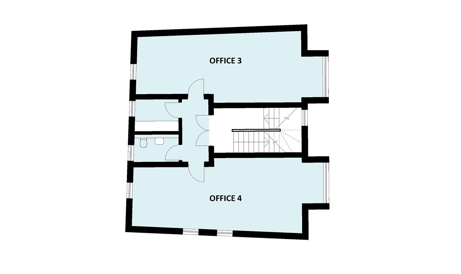 office block first floor plan