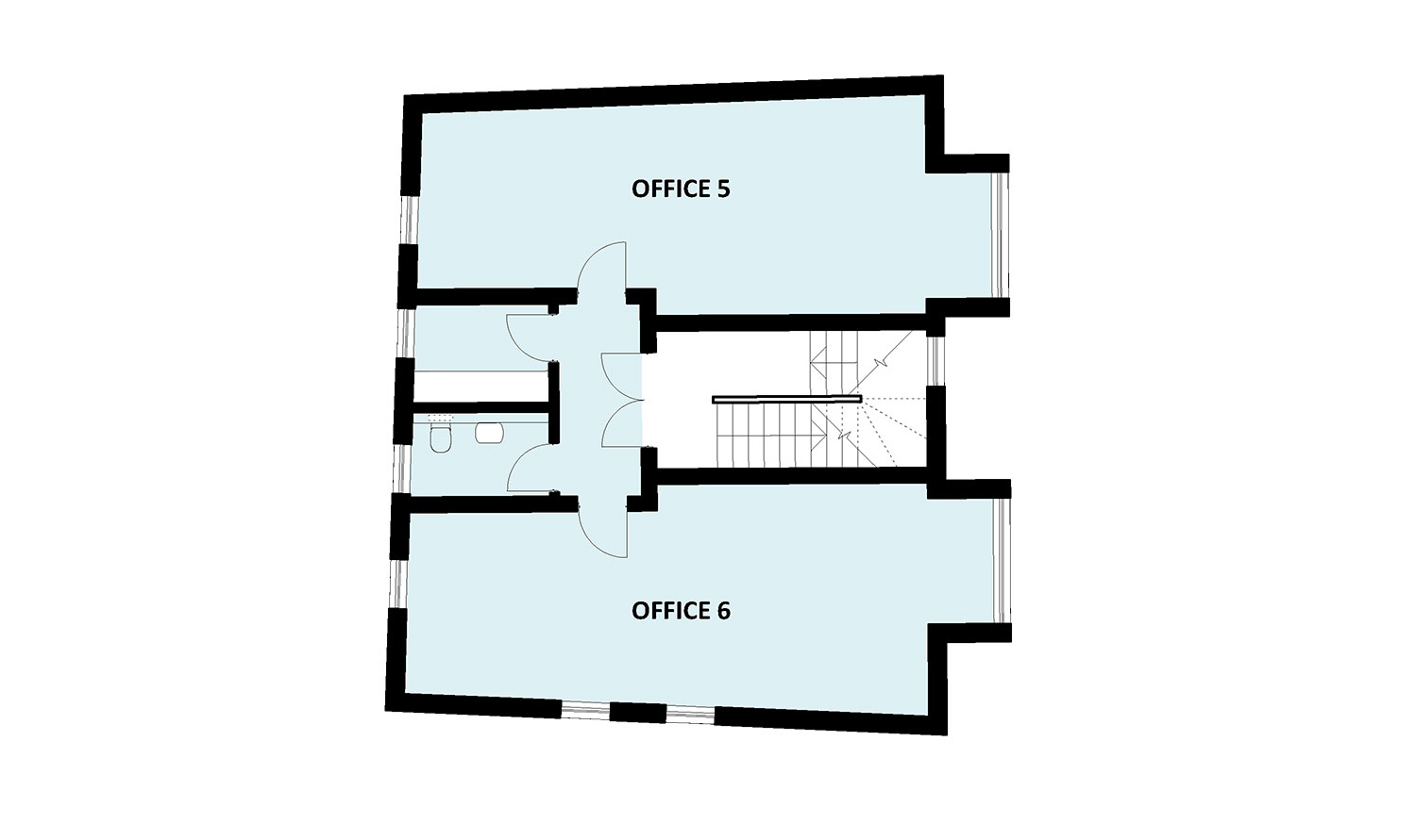 office block second floor plan