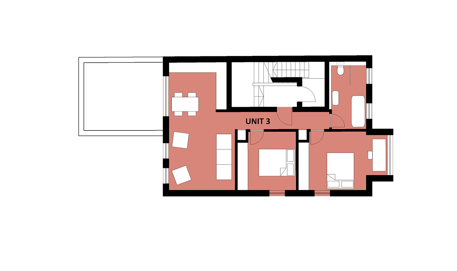 apartment block first floor plan