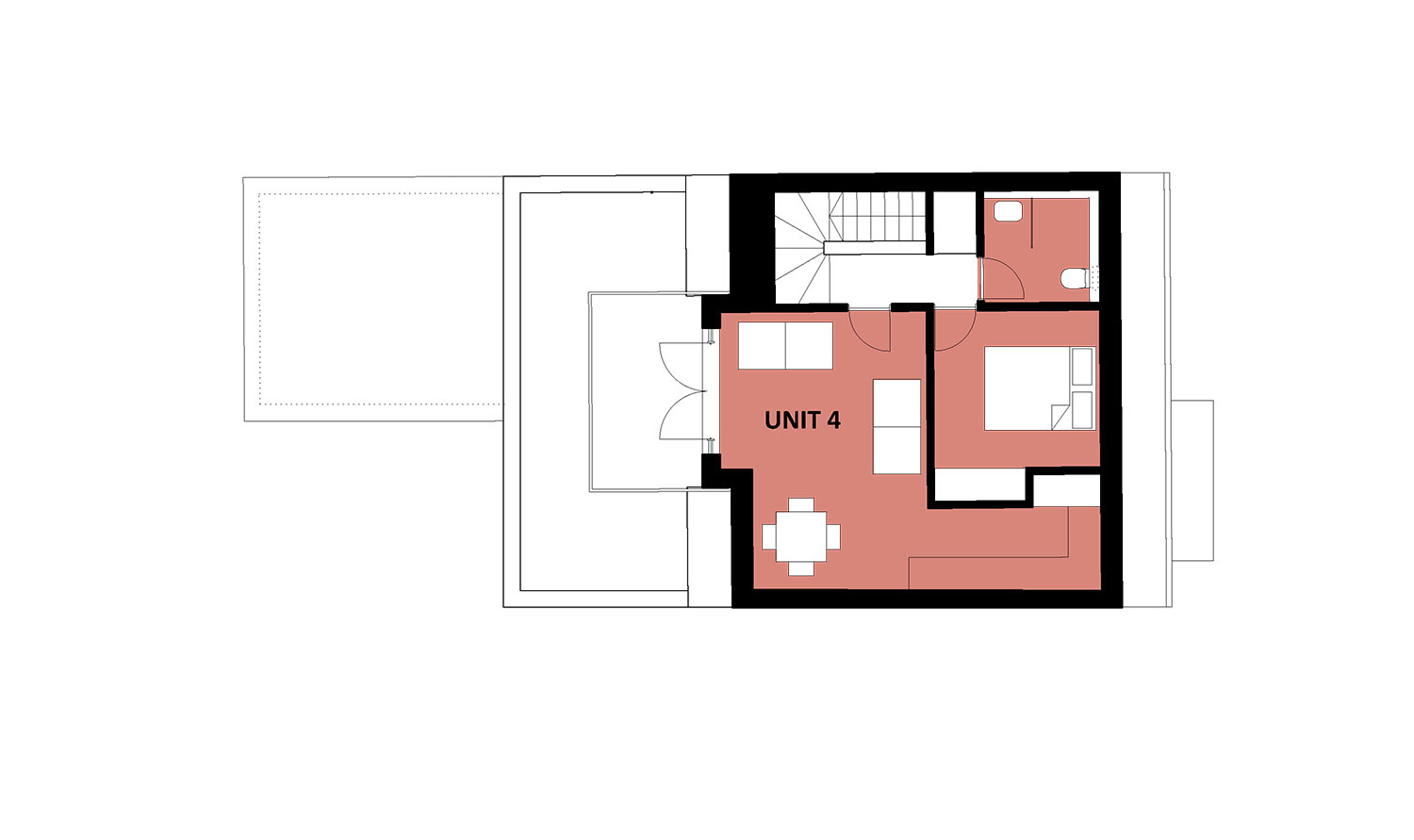 apartment block second floor plan