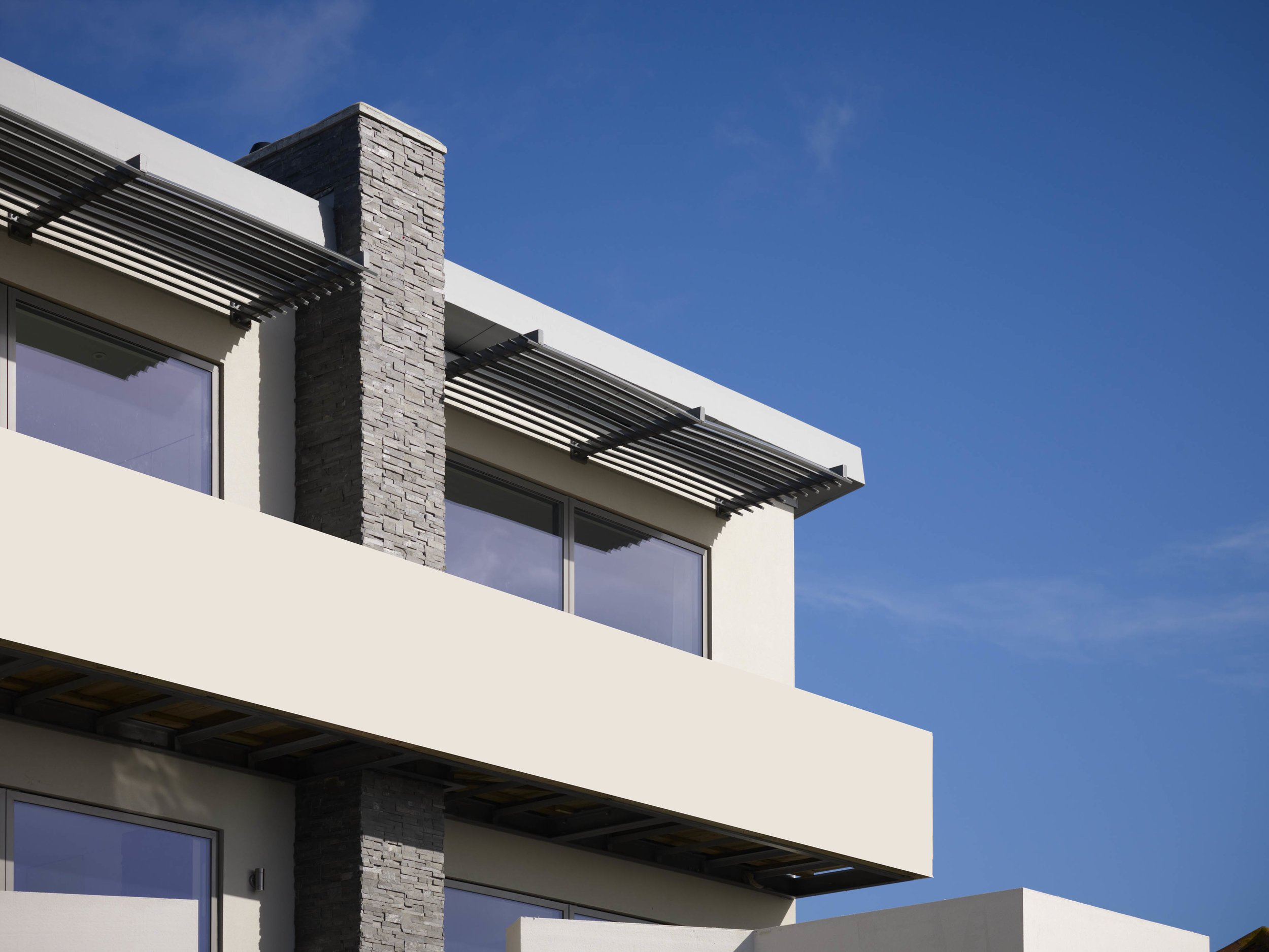brise soleil and large expanses of glazing