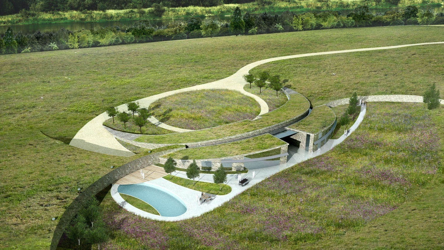 country home of the future rendering from above