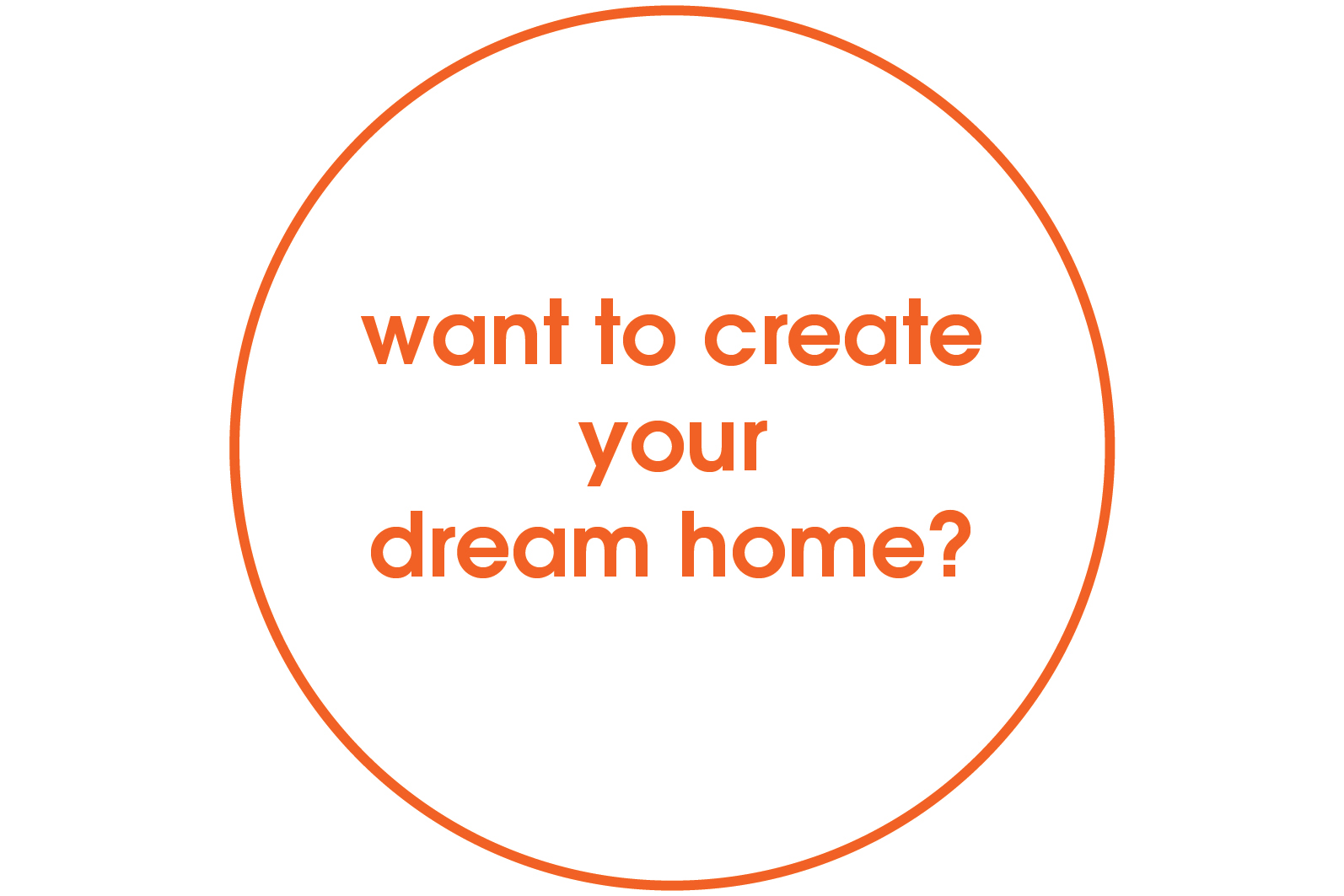 want to create your dream home