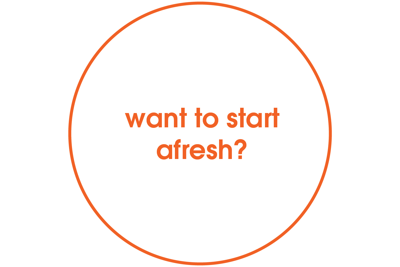 want to start afresh