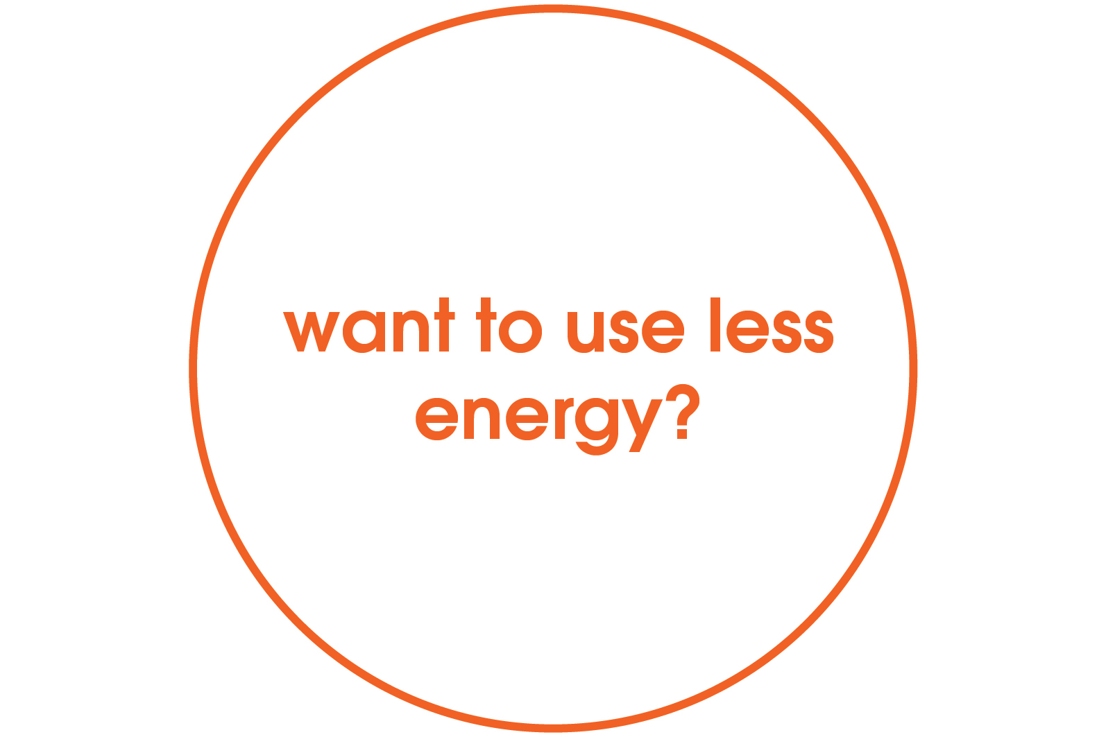 want to use less energy