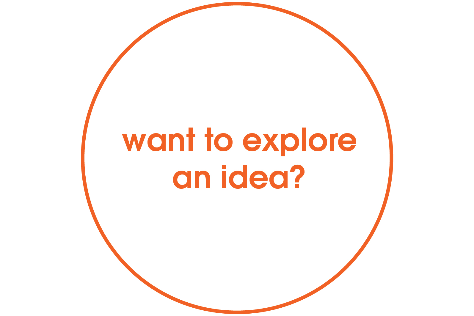 want to explore an idea