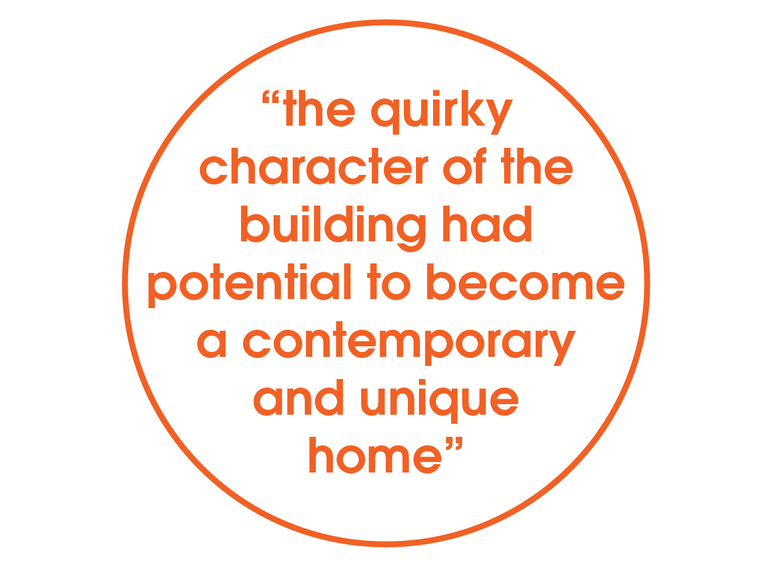 quirky character or building quote