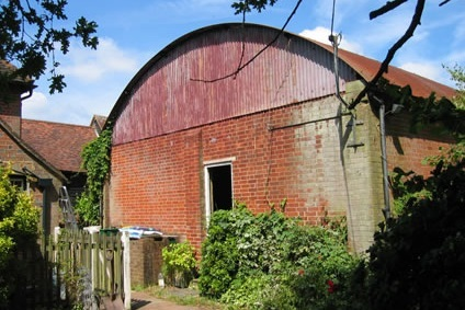 brick cow shed