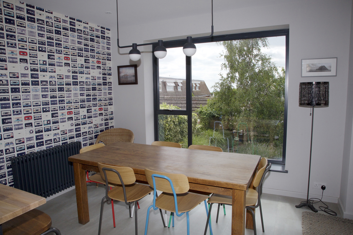 cosy dining area with view to garden