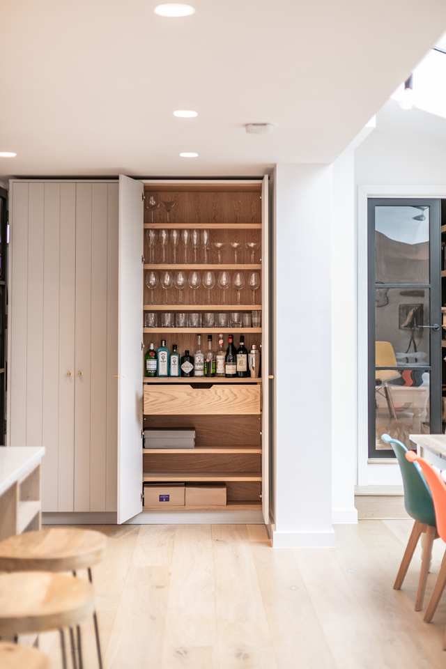 hidden bar for the perfect gin and tonic