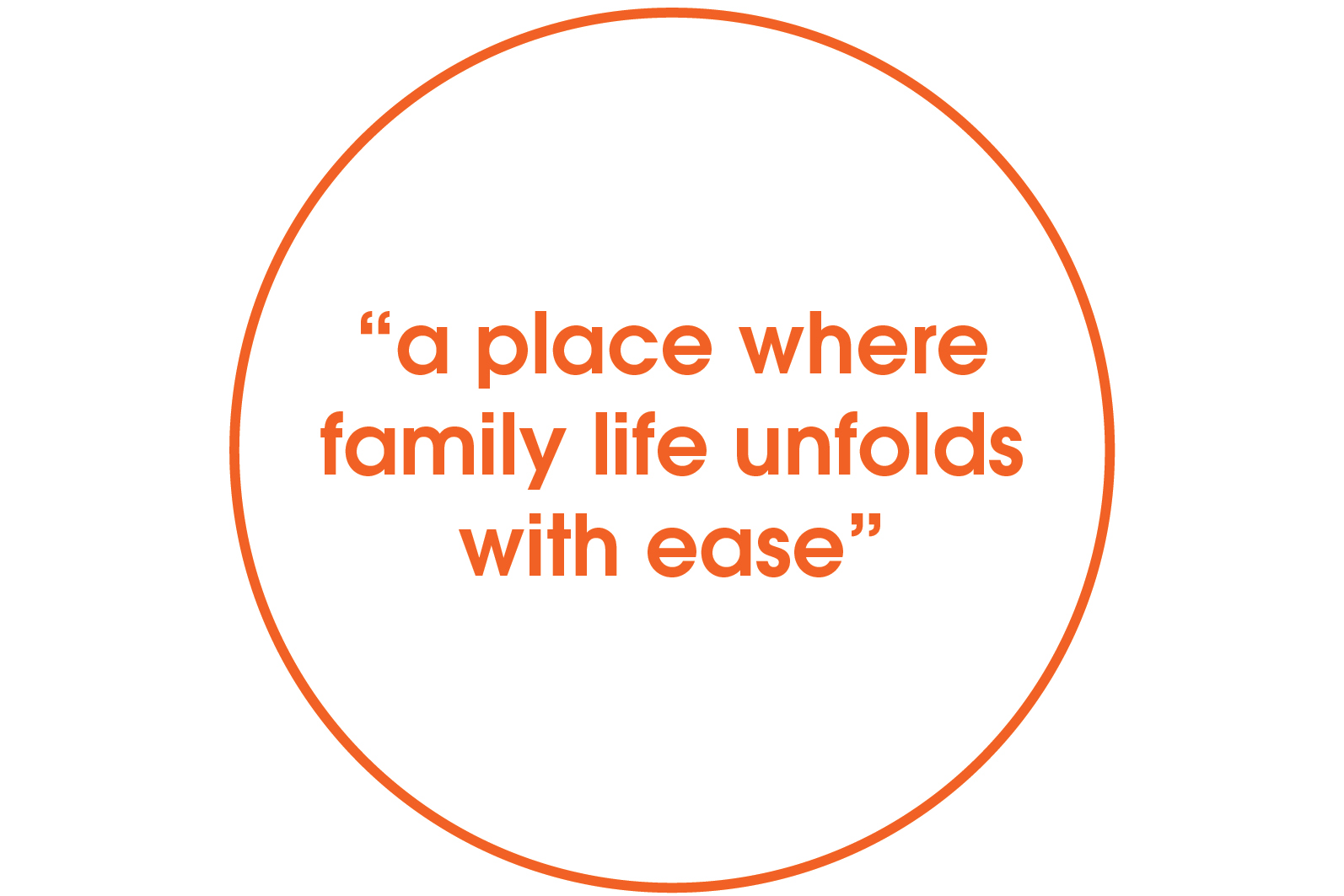a place where family life unfolds with ease quote
