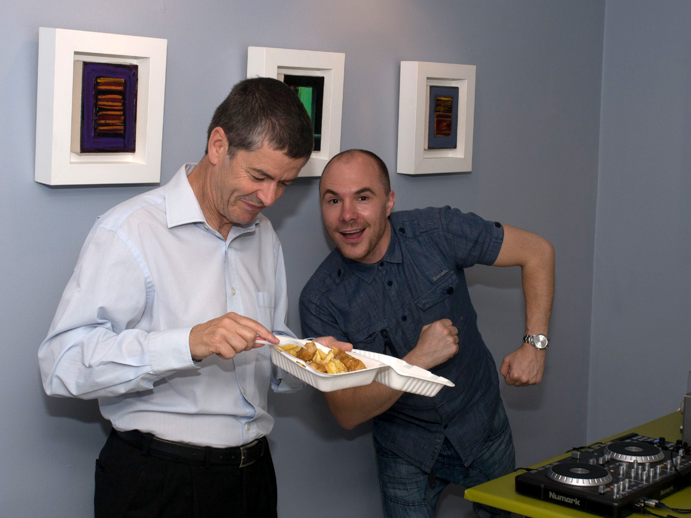 archangels celebrates five years dj and fish and chips