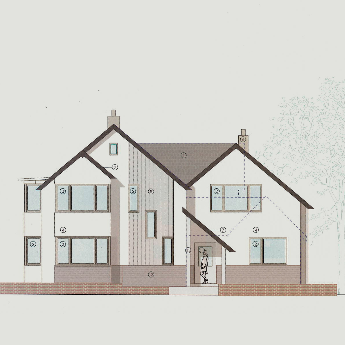 planning approved for two storey extension and external makeover in hove
