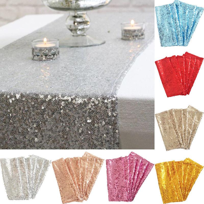 Glitter Sequin Table Runner Colours