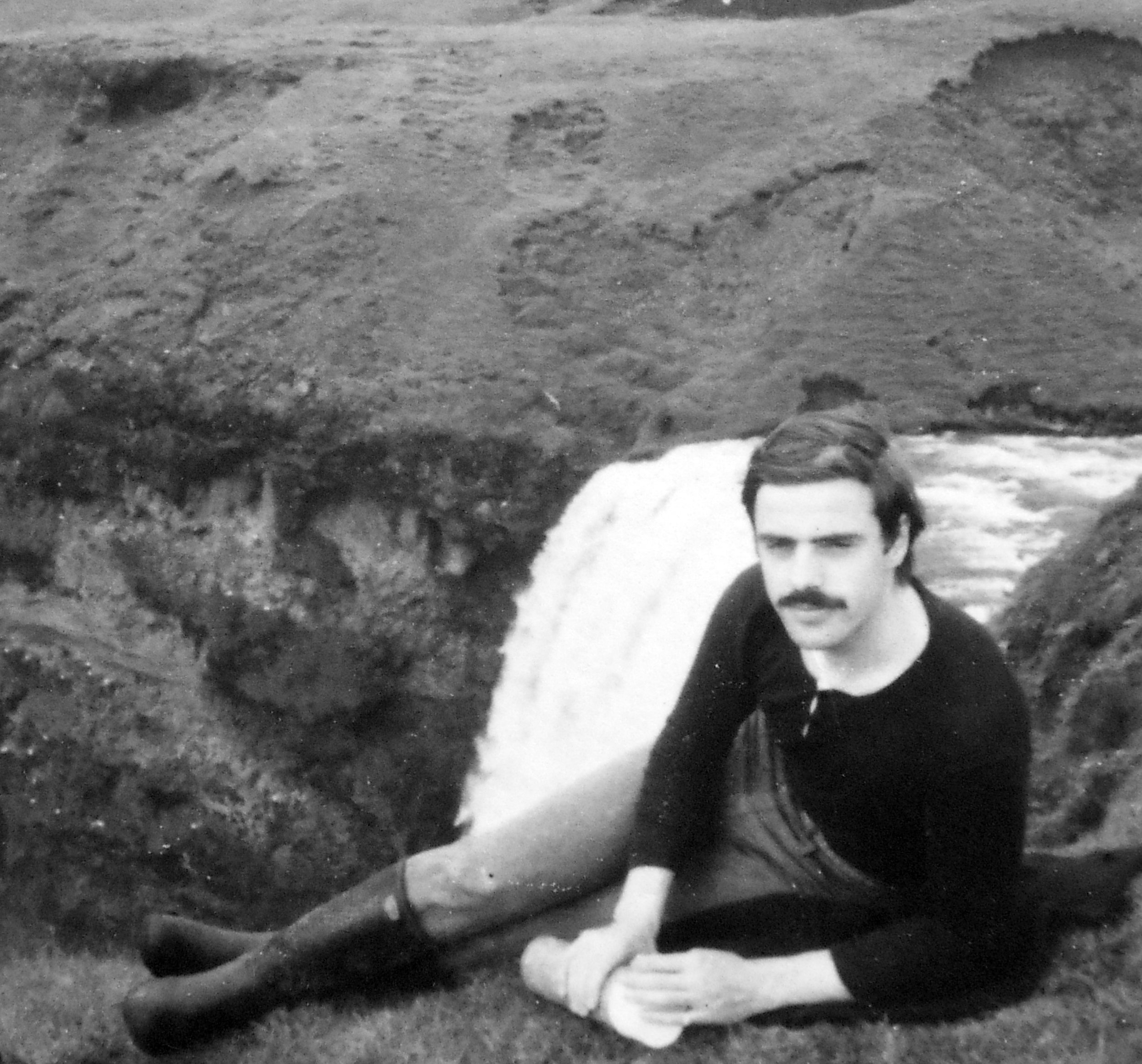 The author at Skógafoss, Sept 1969