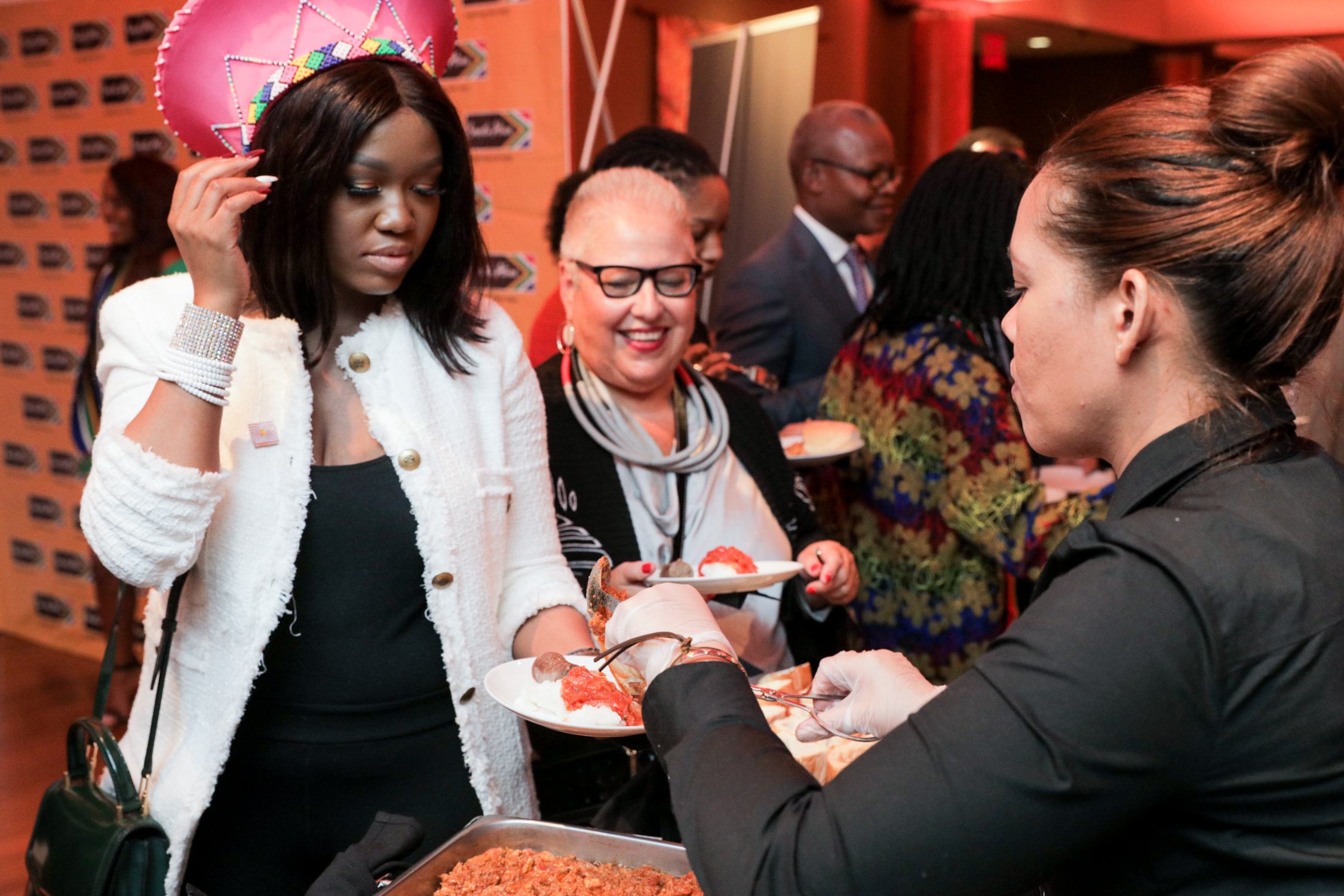 Guests Enjoying South African Food