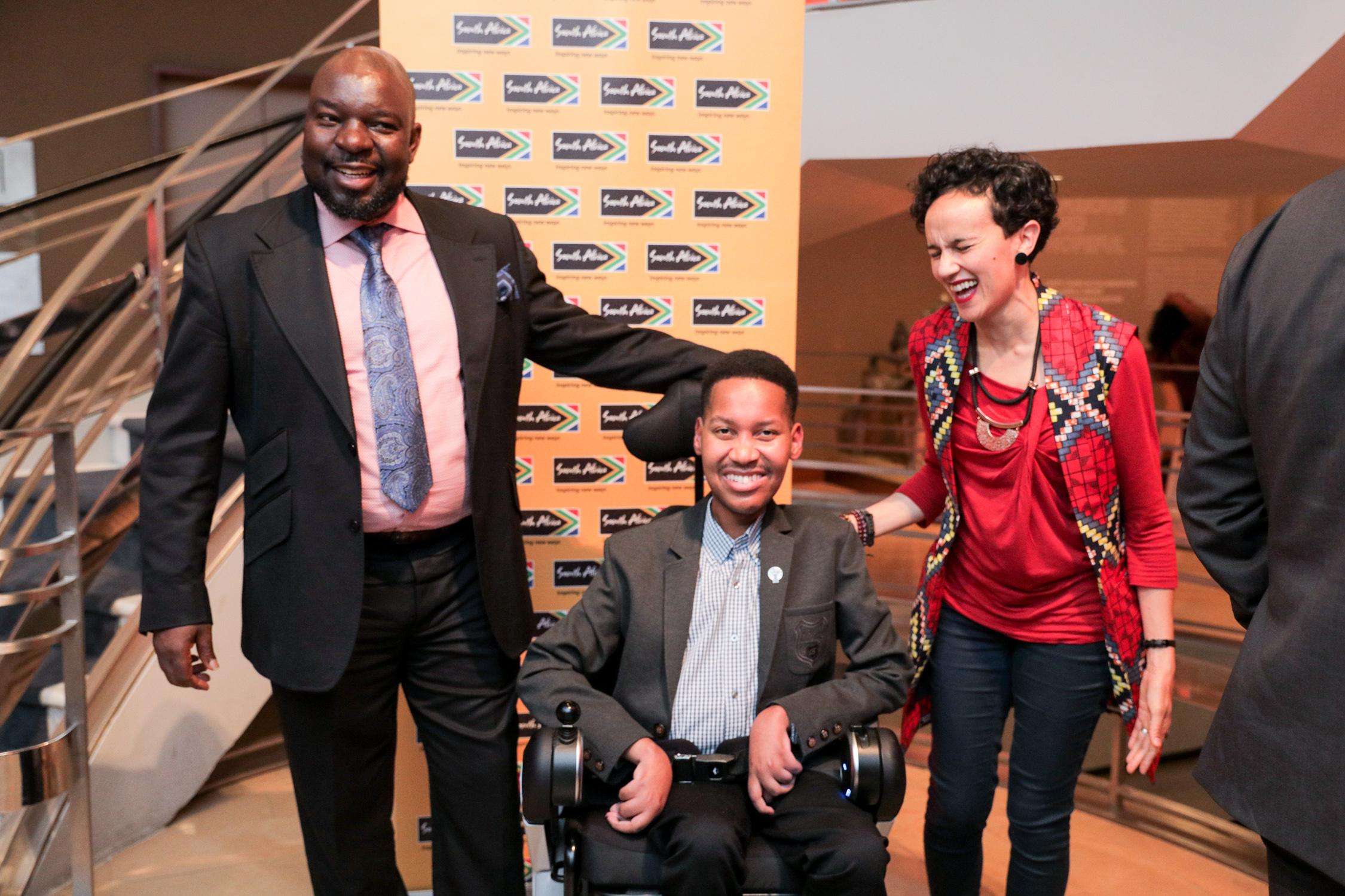 Mr Edward Ndopu with Mr. Baloyi Mudunwazi and Ms Judith of Brand South Africa