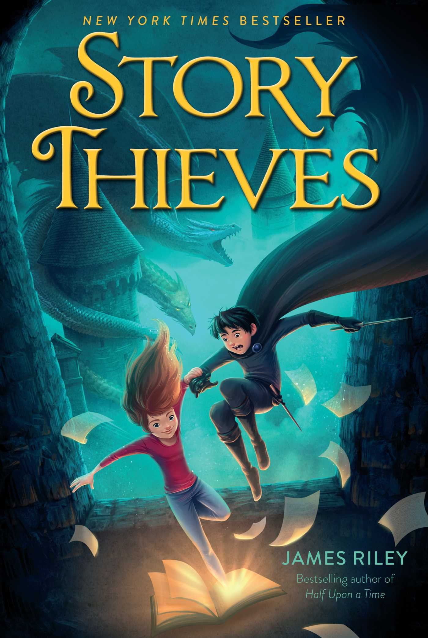 STORY THIEVES (BOOK 1) - Life is boring when you live in the real world, instead of starring in your own book series. Owen knows that better than anyone, what with the real world's homework and chores.But everything changes the day Owen sees the impossible happen—his classmate Bethany climb out of a book in the library. It turns out Bethany's half-fictional and has been searching every book she can find for her missing father, a fictional character.Bethany can't let anyone else learn her secret, so Owen makes her a deal: All she has to do is take him into a book in Owen's favorite Kiel Gnomenfoot series, and he'll never say a word. Besides, visiting the book might help Bethany find her father……Or it might just destroy the Kiel Gnomenfoot series, reveal Bethany's secret to the entire world, and force Owen to live out Kiel Gnomenfoot's final (very final) adventure.BUY: AMAZON | BARNES & NOBLE | INDEPENDENT STORES
