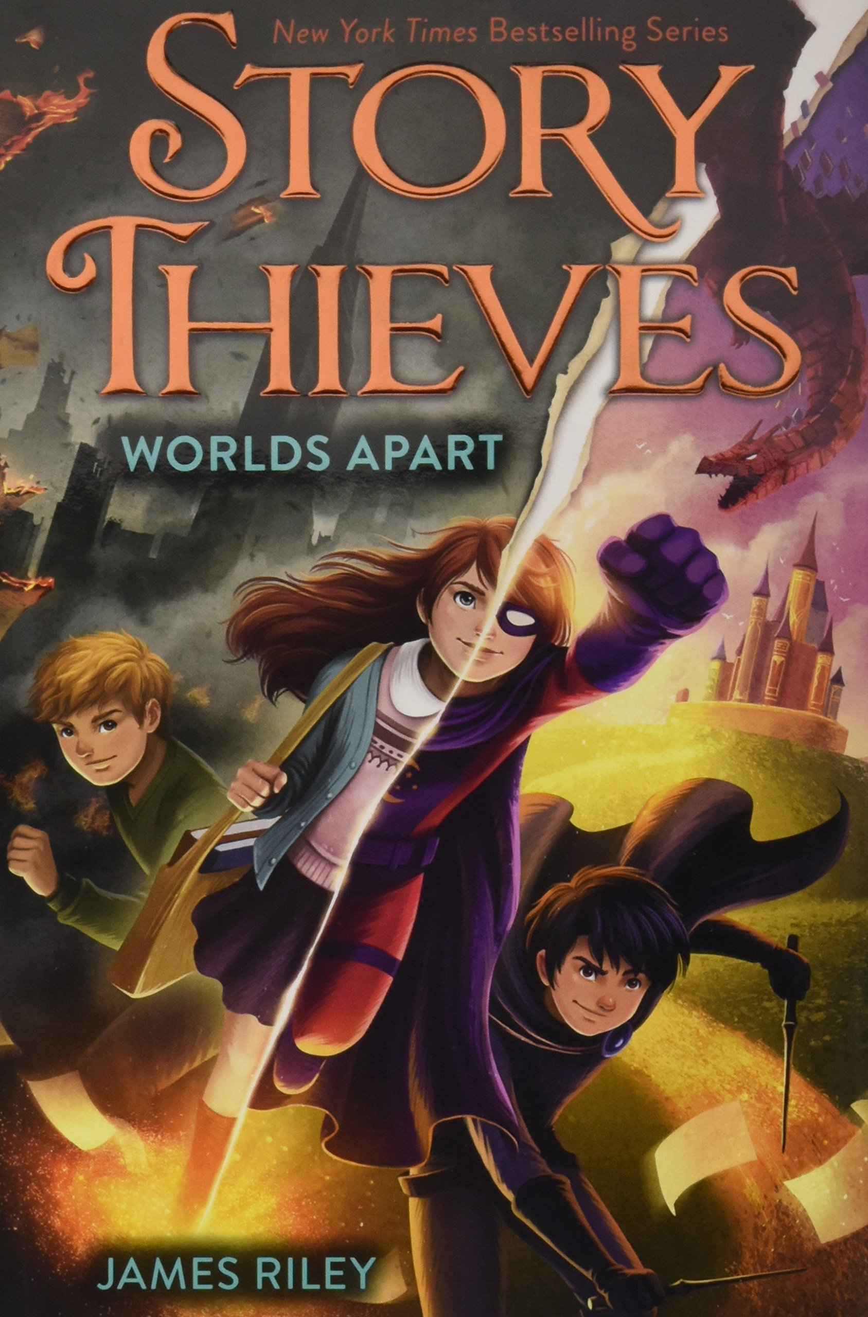 STORY THIEVES: WORLDS APART (BOOK 5) - Bethany and Owen have failed. The villain they have come to know as Nobody has ripped asunder the fictional and nonfictional worlds, destroying their connection. Bethany has been split in two, with her fictional and nonfictional selves living in the separate realms.But weirdly, no one seems to mind. Owen—and every other nonfictional person—have lost their imaginations, so they can't picture their lives any differently. Then Owen gets trapped in a dark, dystopian reality five years in the future, where nothing is needed more desperately than the power to imagine. Fictional Bethany is thrilled to be training with her father as his new sidekick, Twilight Girl—until she realizes that the fictional reality will fade away completely without the nonfictional world to hold it together. In this final installment of the genre-bending Story Thieves series, Owen and Bethany will be forced to risk everything to defeat Nobody and save multiple realities.BUY: AMAZON | BARNES & NOBLE | INDEPENDENT STORES