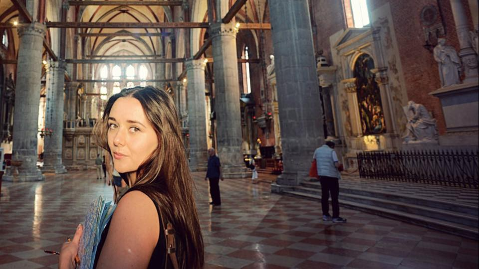Here's Luisa being all cultured and looking at paintings in Venice whilst also being very lost and partially blinded by sunlight. If you spot her out and about in a gallery, say hello!
