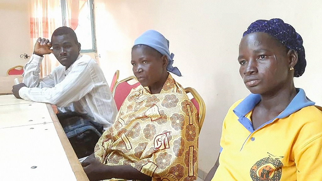 The two widows of the pastors killed