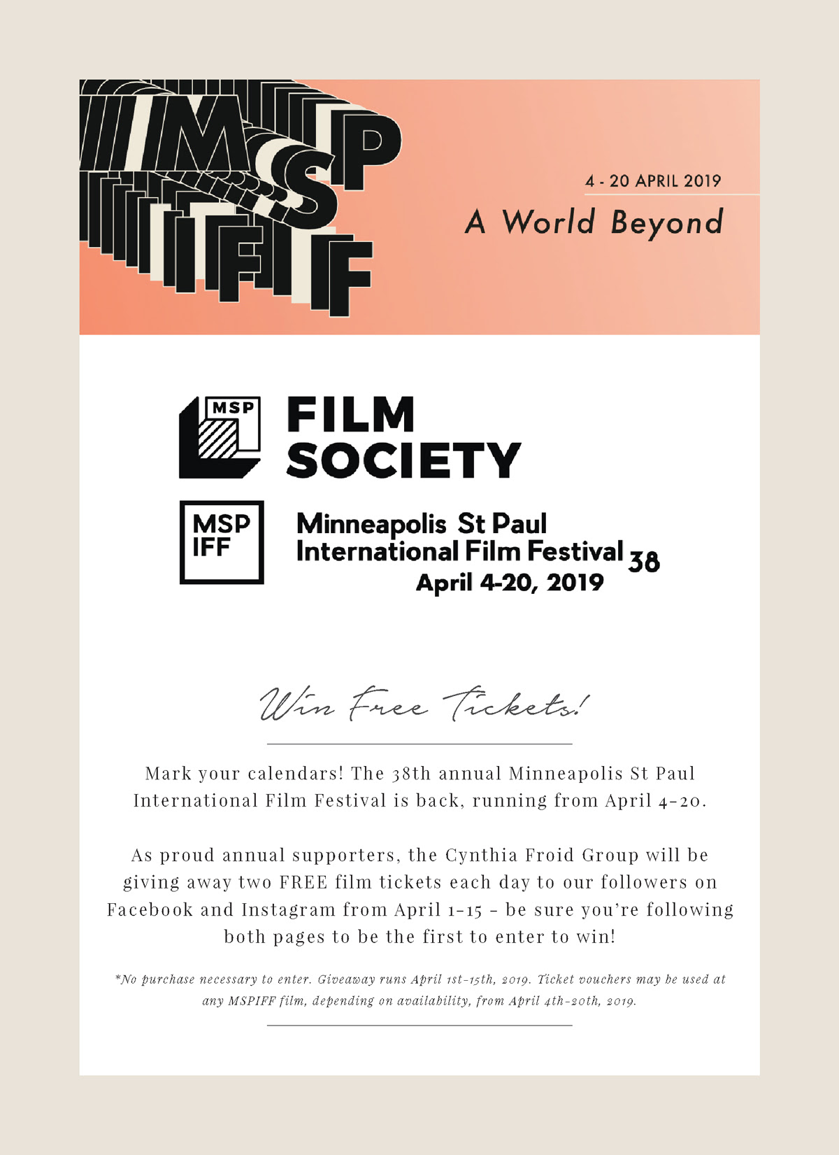 MSP International Film Festival Ticket Giveaway! — Cynthia Froid Group