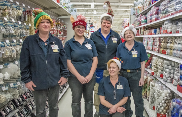 Candy LaMere and her store transition team.