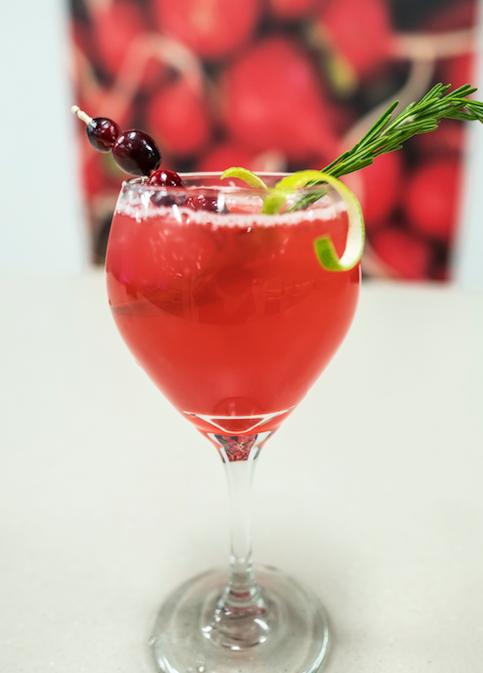 cranberry rosemary fizz