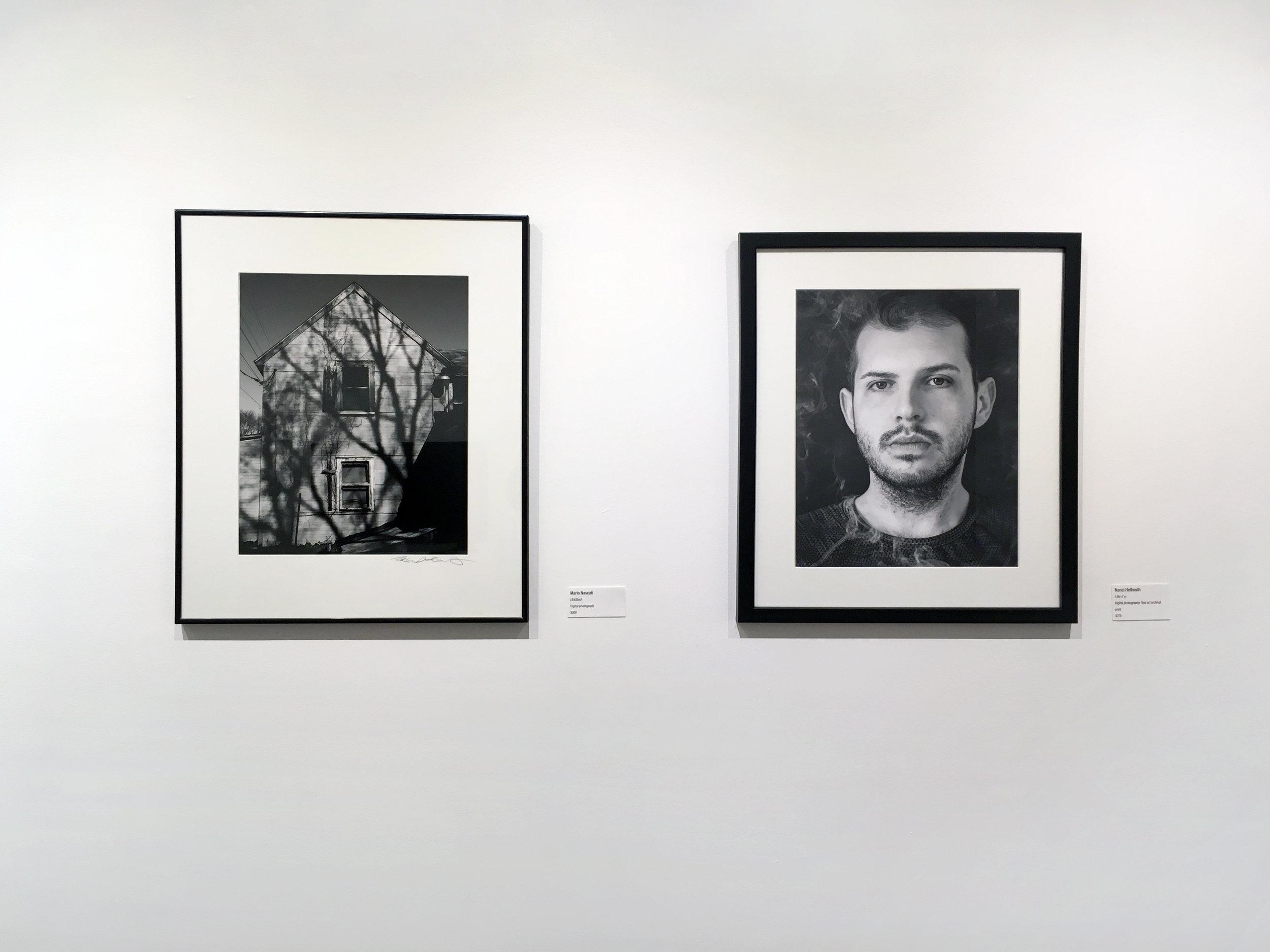 Left: Mario Nascati,  Untitled , digital photograph; Right: Nanci Hellmuth,  Like it is , digital photograph. Courtesy of Da Vinci Art Alliance
