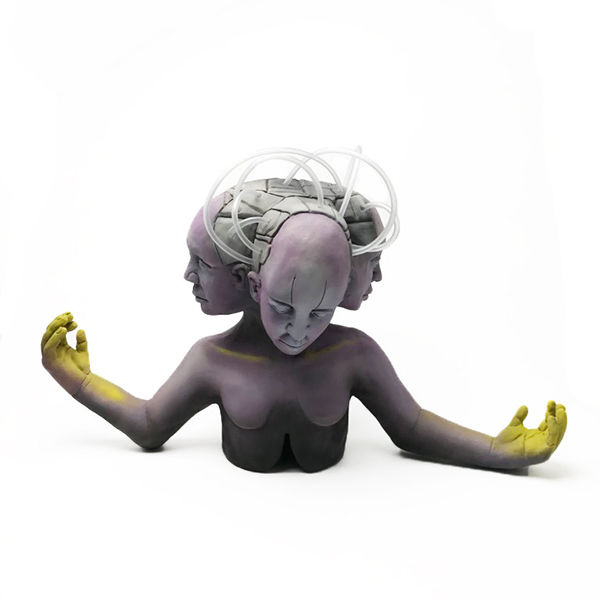 N. Dia Webb,  Finding God , ceramic, resin, plastic, 2019. Courtesy of The Clay Studio