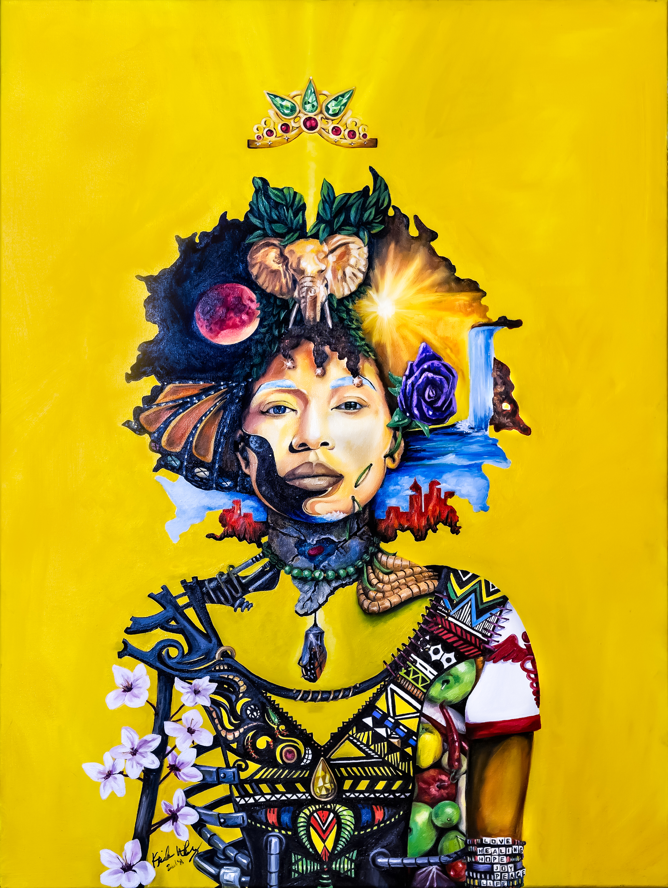 Keisha Whatley,  Queen Culture Portrait , oil on canvas. Courtesy of City of Philadelphia Office of Arts, Culture and the Creative Economy