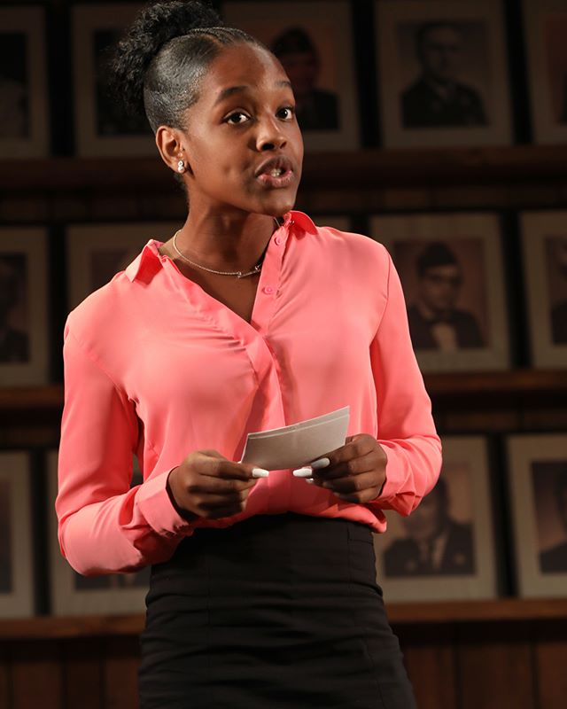 Thursday Williams in WHAT THE CONSTITUTION MEANS TO ME at New York Theatre Workshop, Photo by Joan Marcus