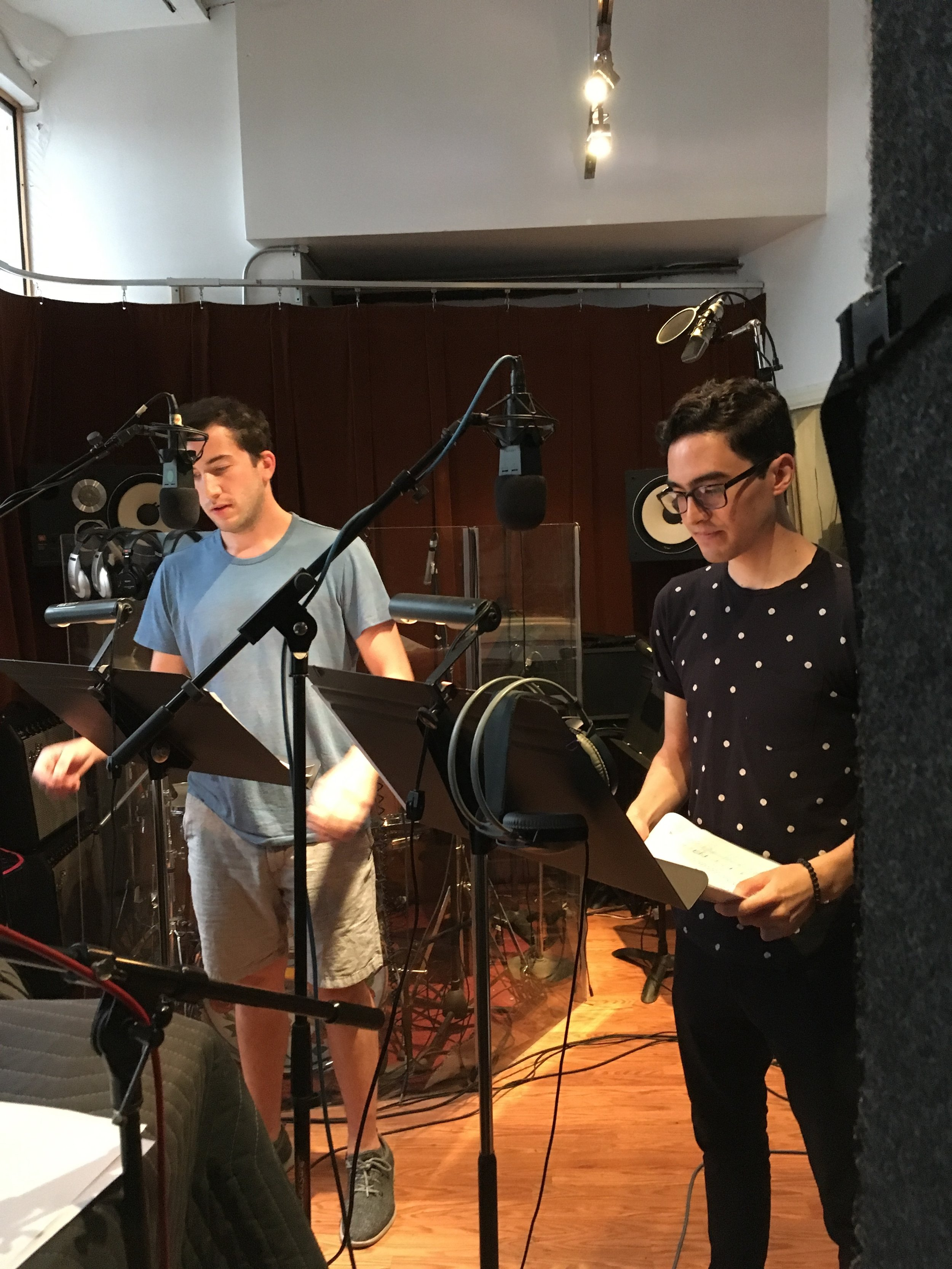 "Harrison Chad and Troy Iwata record ""Loveville HIgh"""