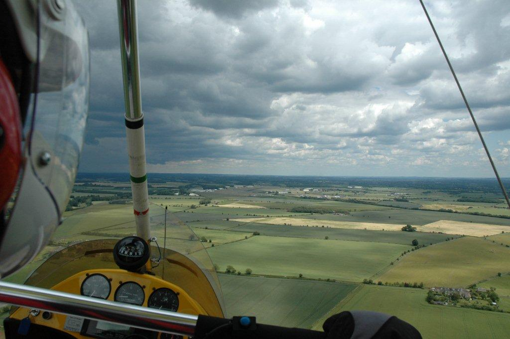 Approaching Kemble from the West on a cloudy day.