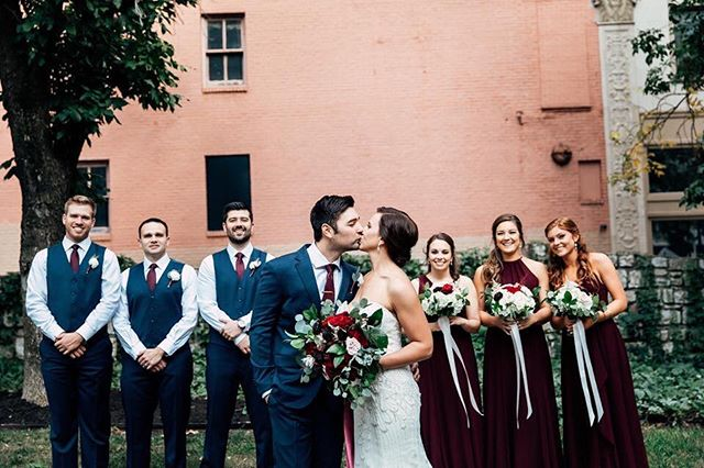 Throwback to the best day ever and my wedding crew!  @kindlingco