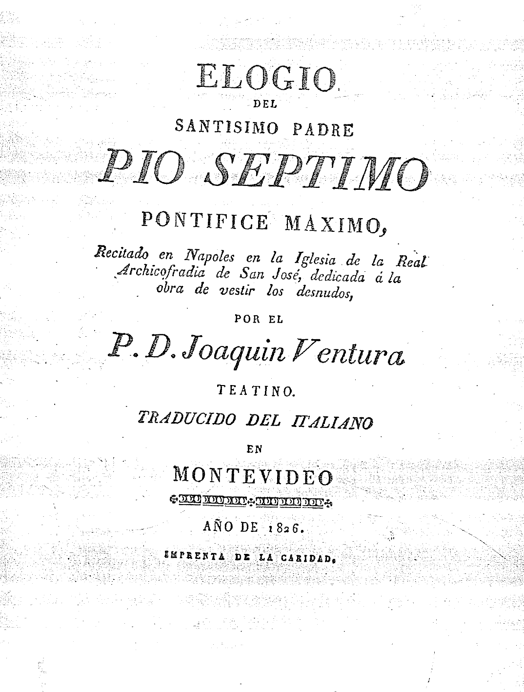 8. Elogio del Santísimo Padre Pio Séptimo Pontífice Máximo (1826).png