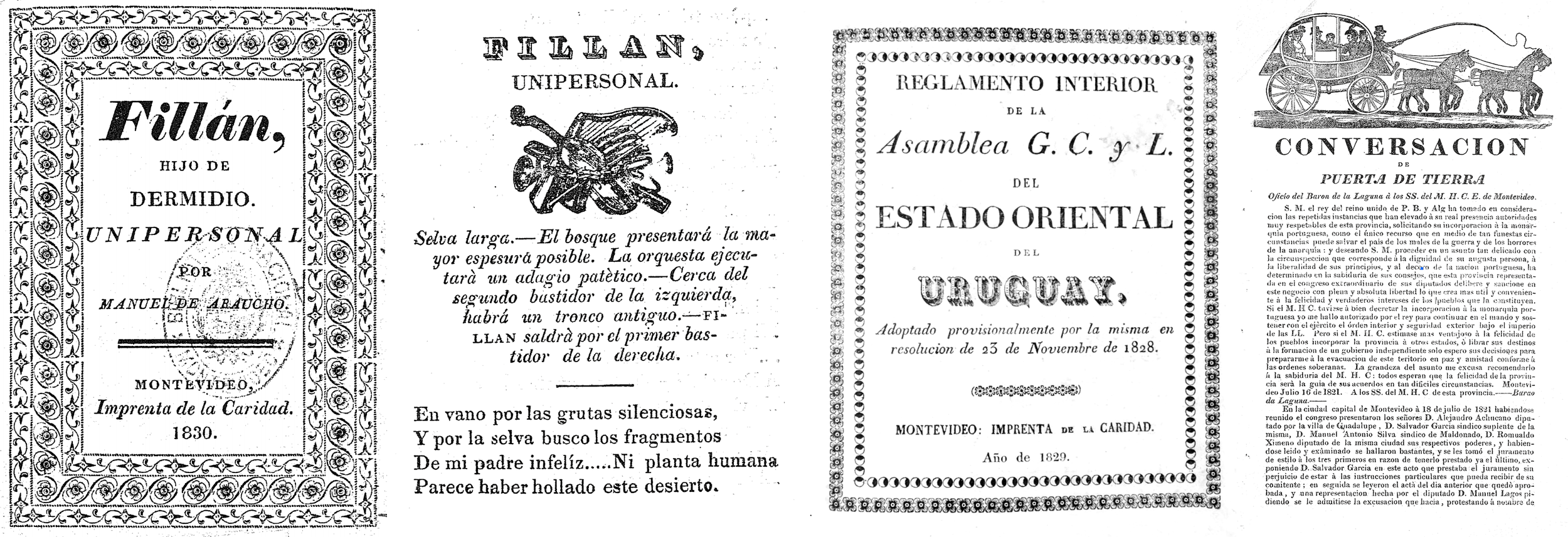 10. Fillan, Hijo de Dermidio (1830), Reglamento Interior de la Asamblea General Constituyente y Legislativa del Estadio Oriental del Uruguay (1829), Conversación de Puerta de Tierra (1821).png