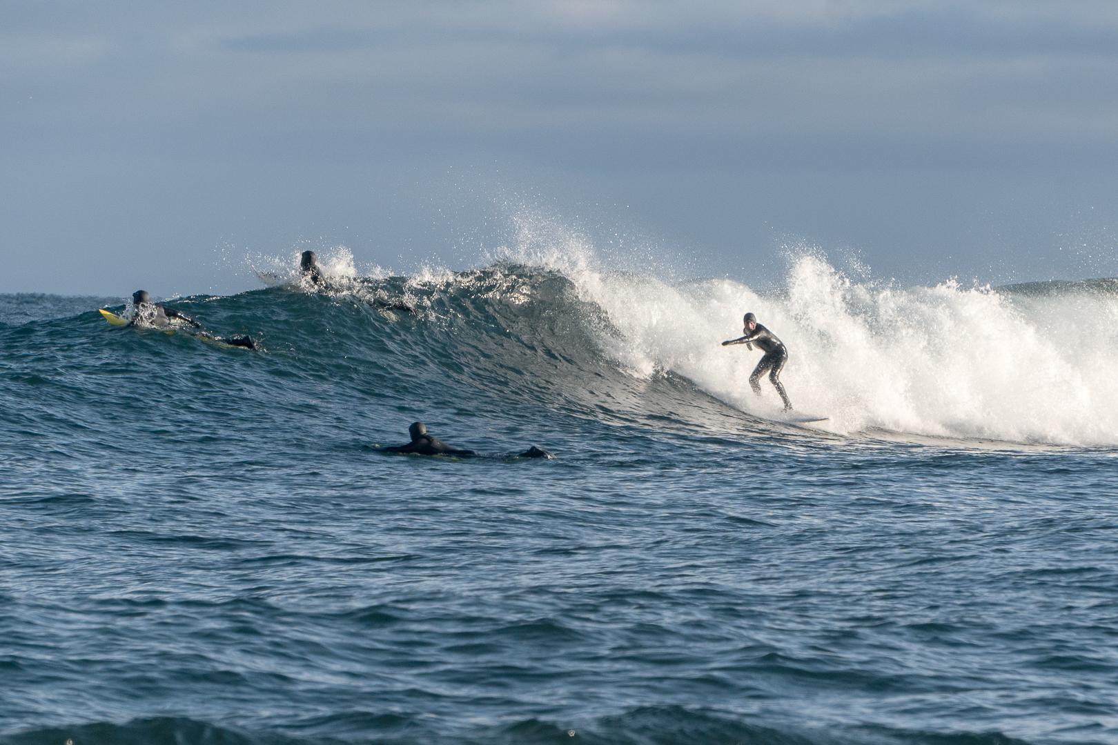 Freshwater surfing, Lake Superior, Minnesota